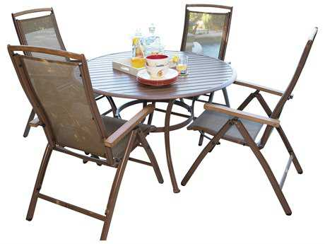 Panama Jack Island Breeze Aluminum 5 PC Slatted Dining Group