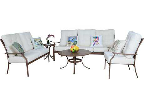 Panama Jack Island Breeze Aluminum Espresso Five Piece Lounge Set