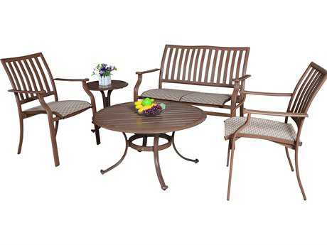Panama Jack Island Breeze Aluminum Five Piece Sling Seating Set
