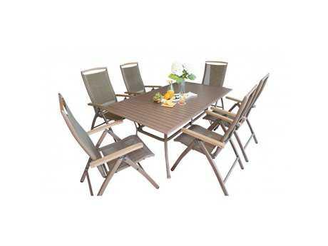 Panama Jack Island Breeze Aluminum 7 PC Slatted Dining Group