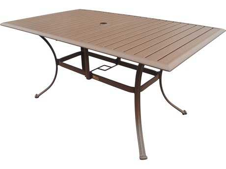 Panama Jack Island Breeze Aluminum 60 x 36 Rectangular Dining Table