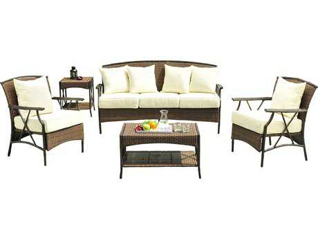 Panama Jack Rum Cay Aluminum 5 PC Seating