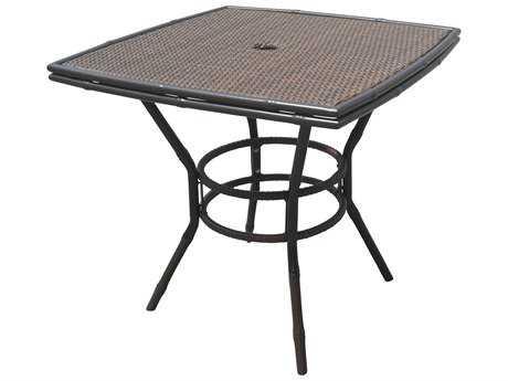 Panama Jack Rum Cay Aluminum 32 Square Bistro Table PJPJO1201ATQBT