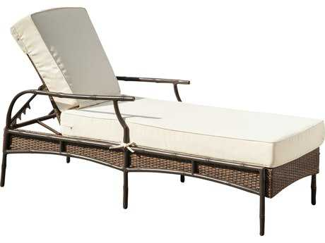 Panama Jack Rum Cay Aluminum Chaise Lounge with cushion