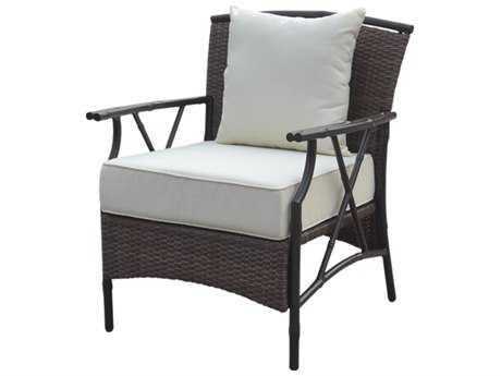 Panama Jack Rum Cay Aluminum Lounge Chair with cushion