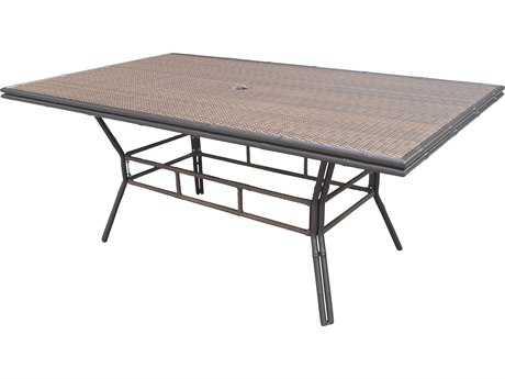Panama Jack Rum Cay Aluminum 74 x 44 Rectangular Dining Table