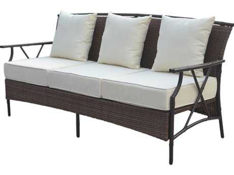 Panama Jack Rum Cay Aluminum Sofa with Cushion PJPJO1201ATQS