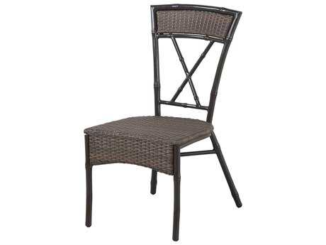 Panama Jack Rum Cay Aluminum Stackable Side chair