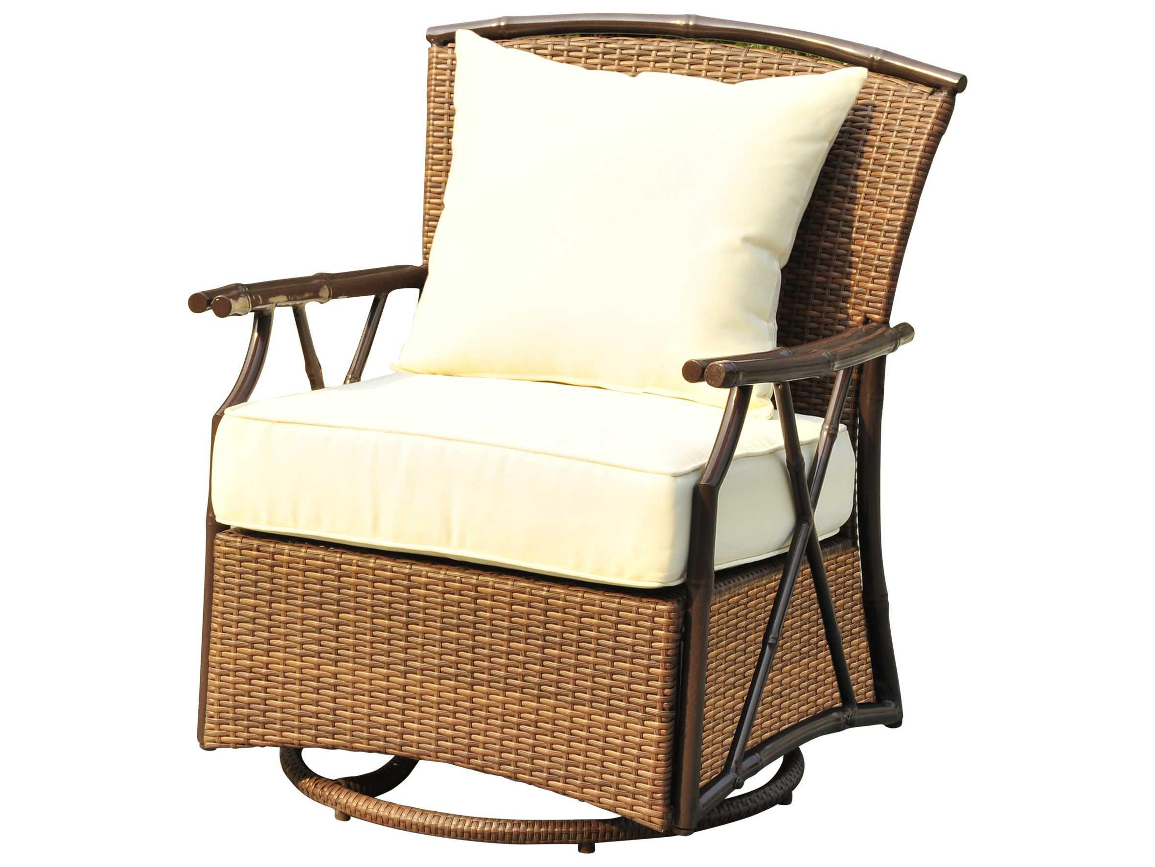 Panama Jack Rum Cay Ottomans Aluminum Swivel Lounge Chair