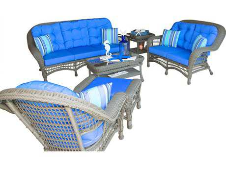 Panama Jack Carolina Beach  Wicker 4 PC Living Set