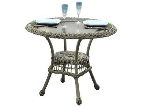 Panama Jack Carolina Beach Aluminum Wicker 30 Bistro Table