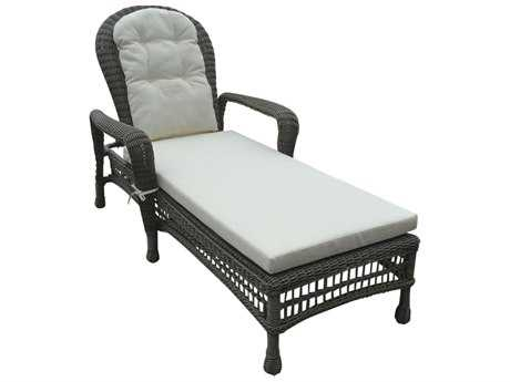 Panama Jack Carolina Beach Aluminum Wicker Stackable Chaise Lounge