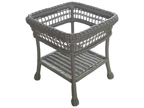 Panama Jack Carolina Beach Aluminum Wicker 23 Square End Table