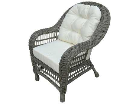 Panama Jack Carolina Beach Aluminum Wicker Stackable Lounge Chair