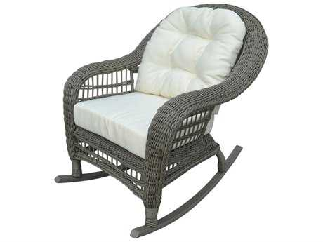 Panama Jack Carolina Beach Aluminum Wicker Rocker