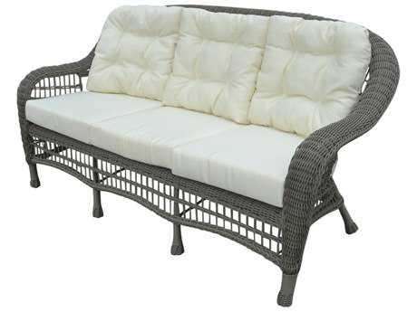 Panama Jack Carolina Beach Aluminum Wicker Stackable Sofa PJPJO1301GRYS