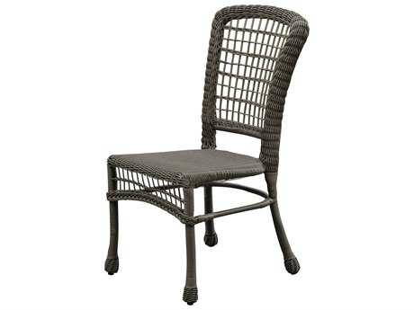 Panama Jack Carolina Beach Aluminum Wicker Stackable Side Chair