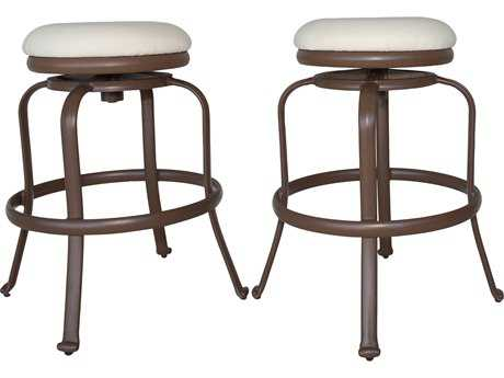 Panama Jack Tiki Backless Swivel Barstools Set of 2