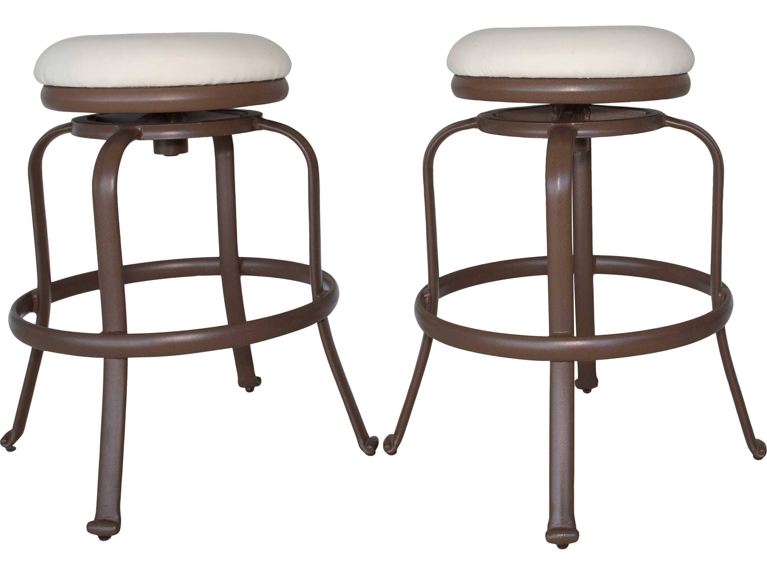 Panama Jack Tiki Backless Swivel Barstools Set Of 2