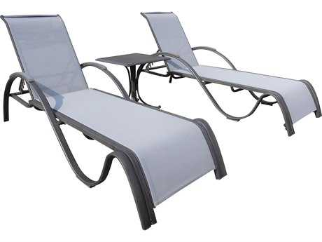 Panama Jack Newport Beach Wicker 3 PC Chaise Lounge Set