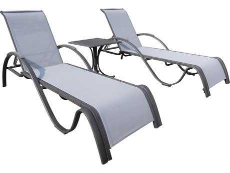 Panama Jack Newport Beach Wicker 3 PC Chaise Lounge Set