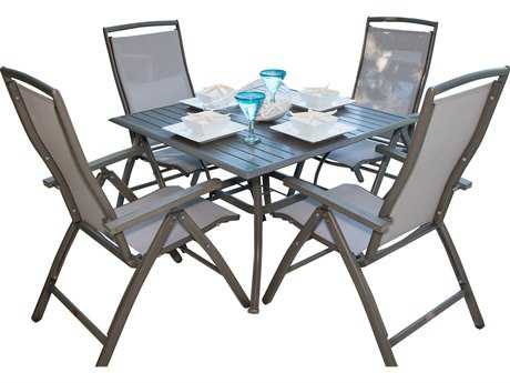 Panama Jack Newport Beach Aluminum 5 PC Multi-Position Dining Set