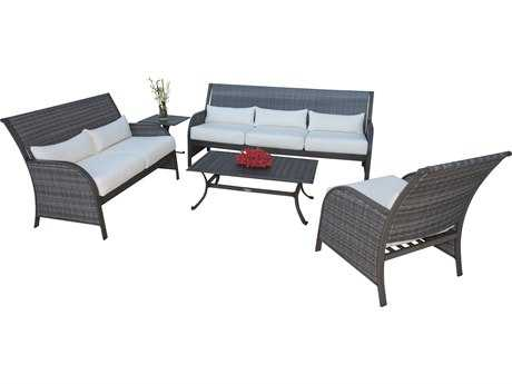 Panama Jack Newport Beach Wicker 5 PC Living Set