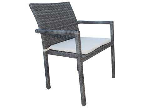 Panama Jack Newport Beach Wicker Stackable Armchair