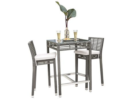 Panama Jack Graphite Wicker Dining Set