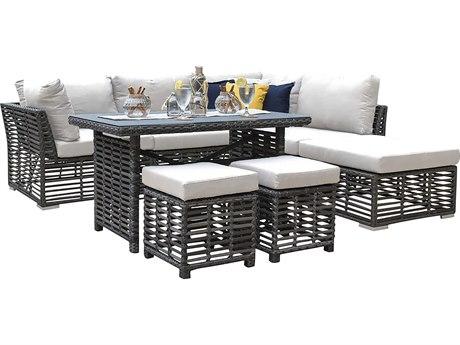 Panama Jack Graphite Wicker Cushion Lounge Set PatioLiving