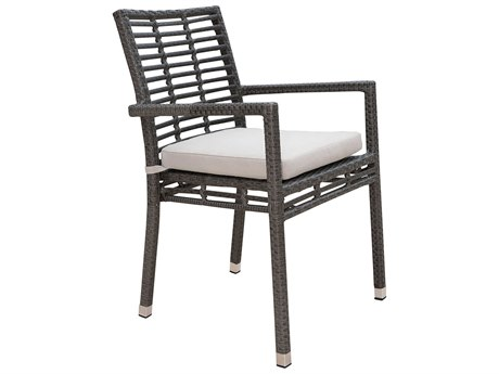 Panama Jack Graphite Wicker Cushion Dining Chair