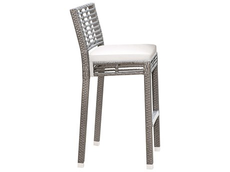 Panama Jack Graphite Wicker Cushion Bar Stool