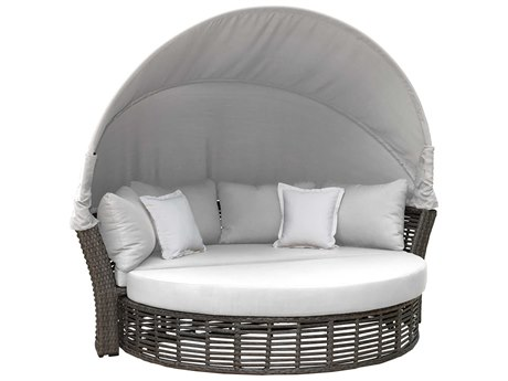 Panama Jack Graphite Wicker Cushion Lounge Bed