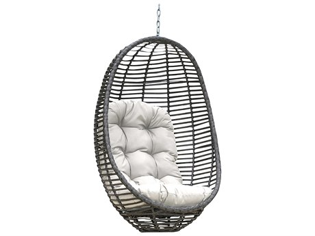 Panama Jack Graphite Wicker Cushion Swing