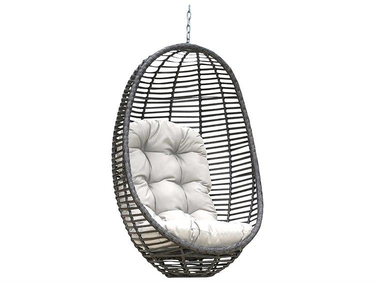 Panama Jack Graphite Wicker Cushion Swing