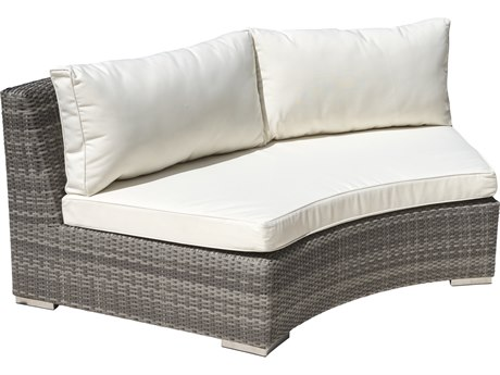 Panama Jack Bridgehampton Wicker Cushion Loveseat