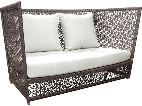 Panama Jack Maldives Wicker Cushion Loveseat