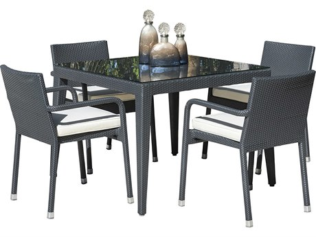 Panama Jack Onyx Wicker Dining Set