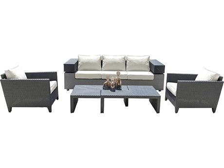 Panama Jack Onyx Wicker Cushion Lounge Set