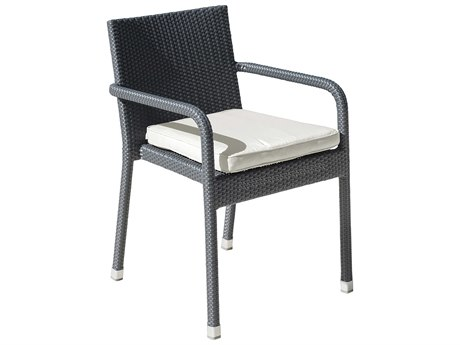 Panama Jack Onyx Wicker Cushion Dining Chair