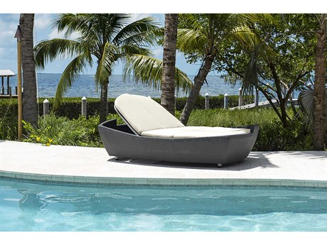 Panama Jack Onyx Wicker Cushion Chaise Lounge
