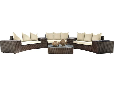 Panama Jack Big Sur Wicker Cushion Lounge Set PatioLiving