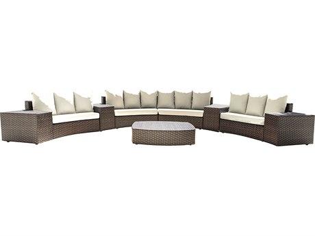 Panama Jack Big Sur Wicker Cushion Lounge Set