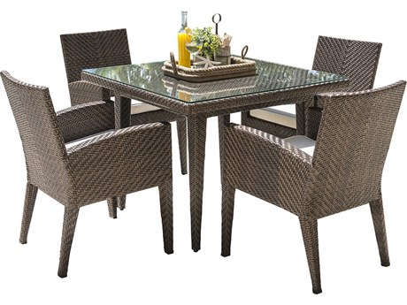 Panama Jack Oasis Wicker Dining Set