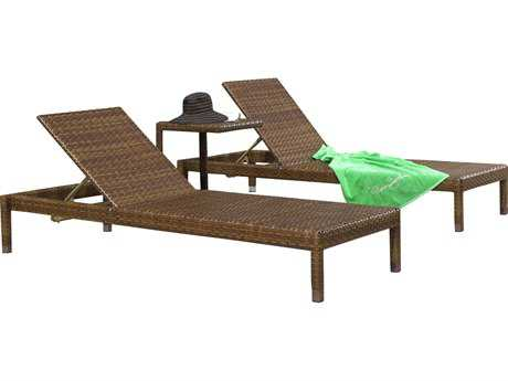 Panama Jack St. Barth's Wicker Three Piece Chaise Lounge Set