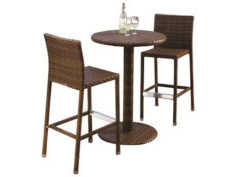 Panama Jack St. Barth's Wicker 3 Piece Pub Set