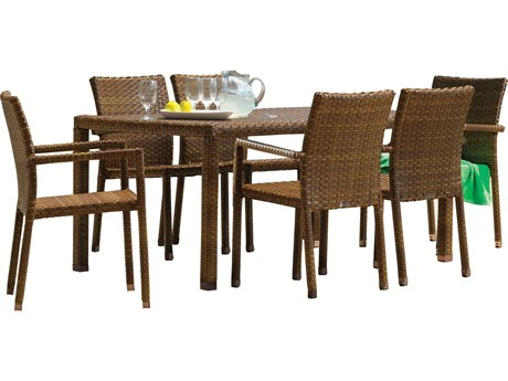 Panama Jack St Barths Wicker Dining Set