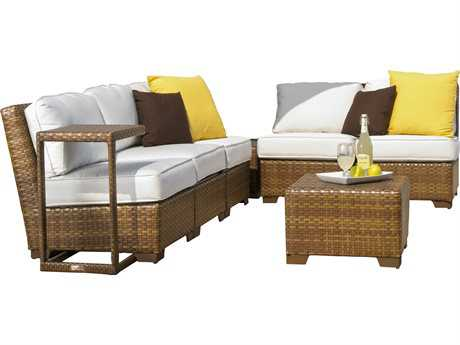 Panama Jack St. Barth's Wicker 8 Piece Sectional Set