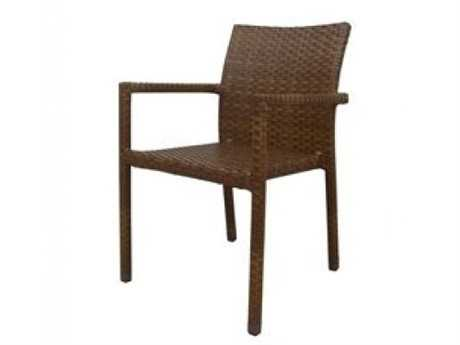 Panama Jack St. Barth's 3 Wicker Piece Stackable Dining Arm Chair PatioLiving