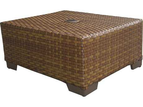 Panama Jack St. Barth's Wicker 22 Square Coffee Table